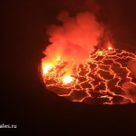 Photos and videos of the eruption of a volcano in Congo