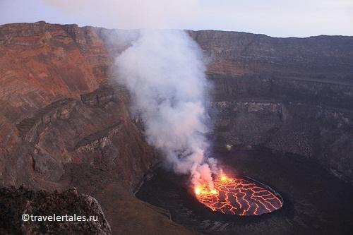 Фото и видео извержения вулкана в Конго